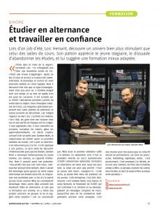 Étudier en alternance et travailler en confiance - Loïc Hersant - SODEP
